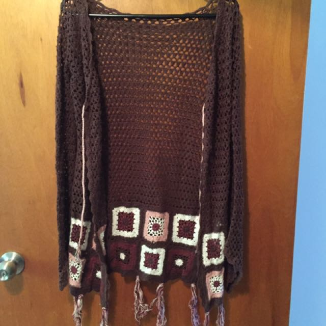Crochet Jacket Vintage Style Granny Squares