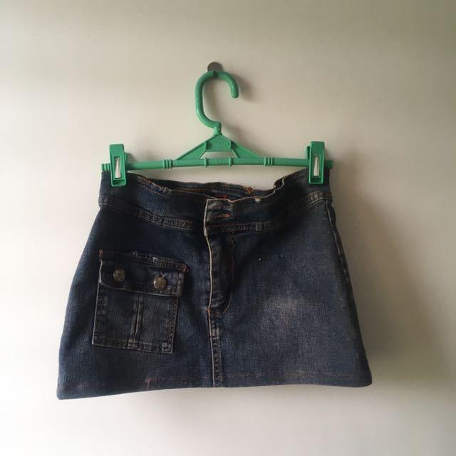 Denim Mini-skirt