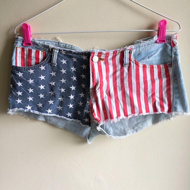 Denim Shorts From Korea