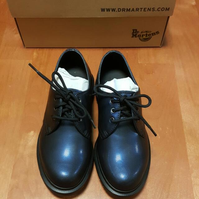全新Dr. Martens馬丁靛藍色皮鞋