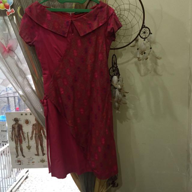 Dress Red Batik