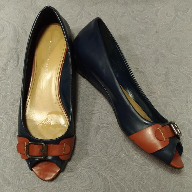 Flat Shoes Navy No.40