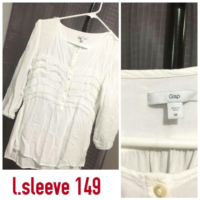 GAP White Longsleeves