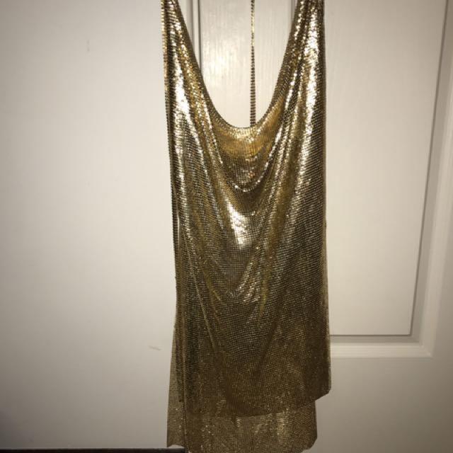 Gold Kendall Dress