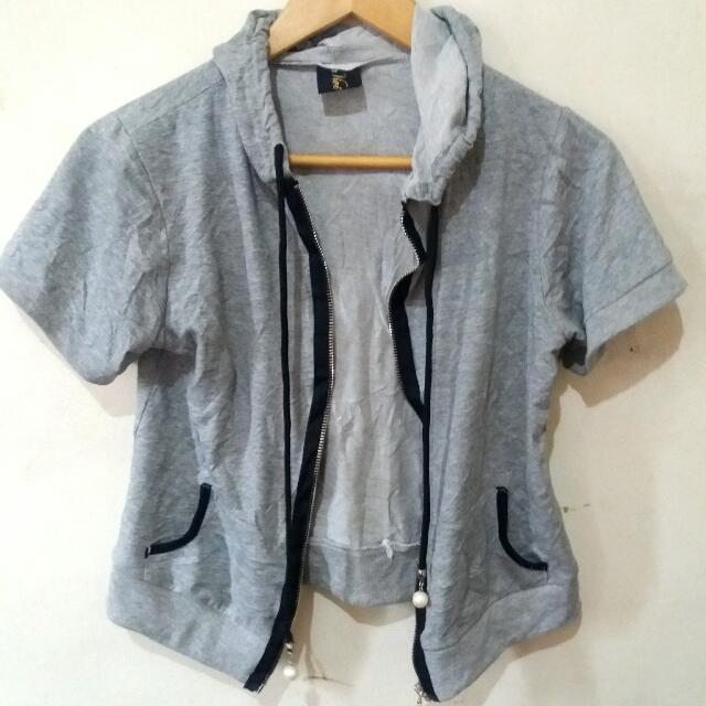 Gray Half Sleeve Jacket
