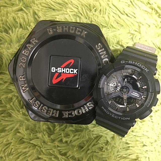 G-SHOCK 黑運動錶 GA-110-1BDR
