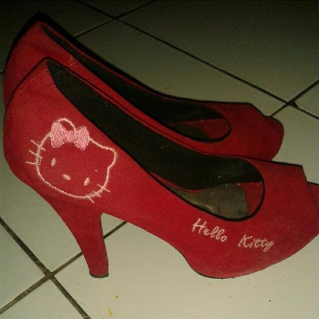 Heels Hellokitty / Heels Merah