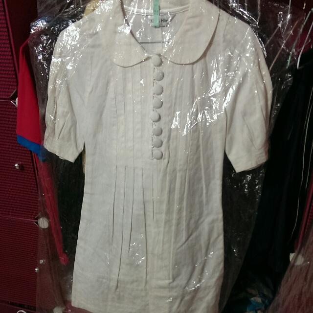 Her&Him 白色造型洋裝