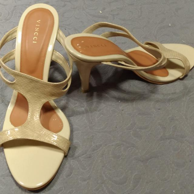 High Heels Selop VINCCI cream No 40