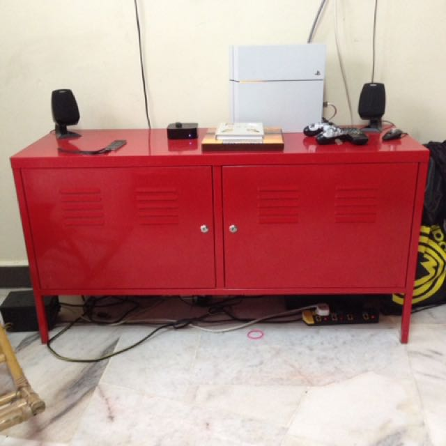 new arrival 27d56 5b6d5 IKEA PS Red Metal TV Stand