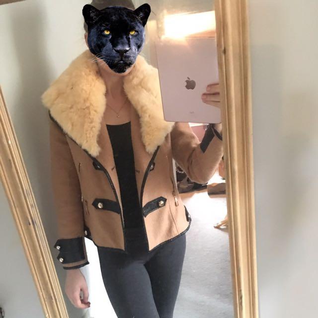 Jacket - Real Rabbit Fur Collar