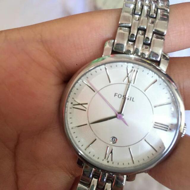 Jacquelline Silver Fossil Watch ORIGINAL