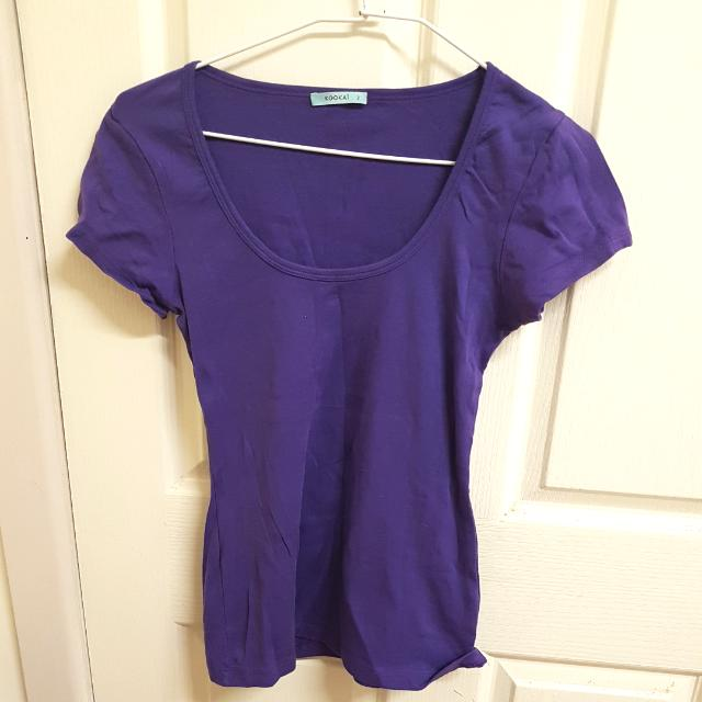 Kookai t-shirt purple, size 2