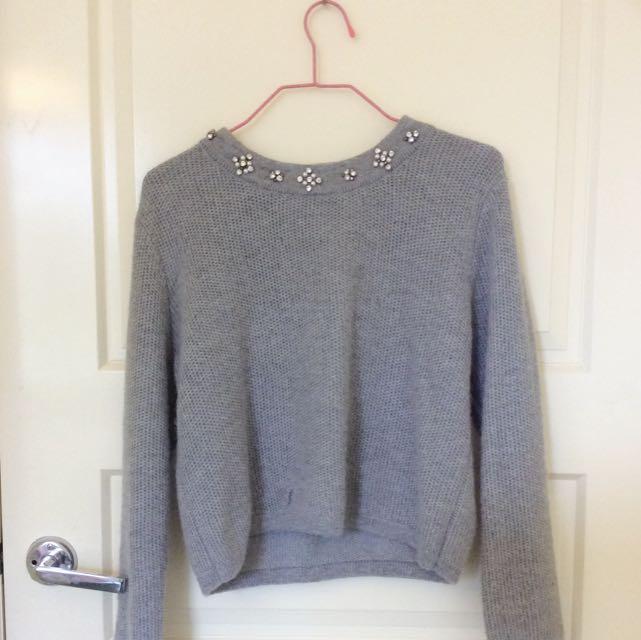 Korean Grey Sweater