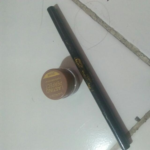 Lanbis 2 In 1 Lasting Perfect Eyebrow Cream And Eyeliner