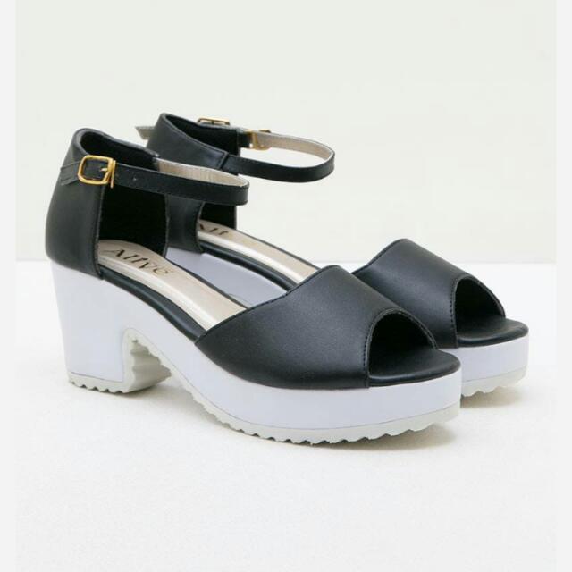 Midi Heels by Alive ( NEGO tipis ) Shoes/casual shoes/high Heels/ Wedges/ Platform Shies/stiletto/ sneakers/ sepatu Wanita