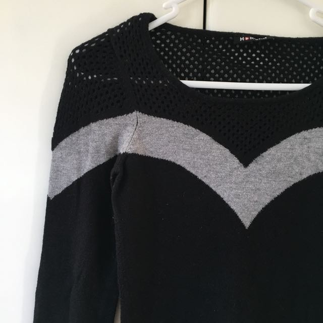 Morgan Black Knitted Top