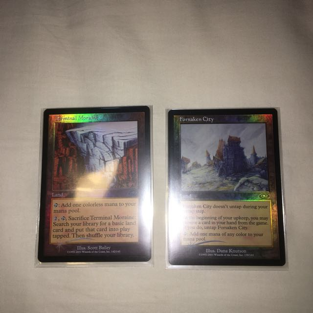 4 PLAYED Terminal Moraine Land Planeshift Mtg Magic Uncommon 4x x4