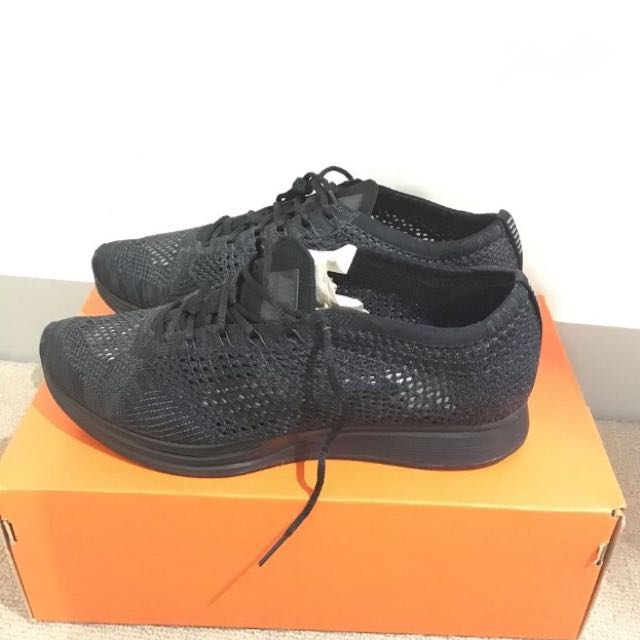 NIKE FLYKNIT RACER BLACK MEN US 9.5