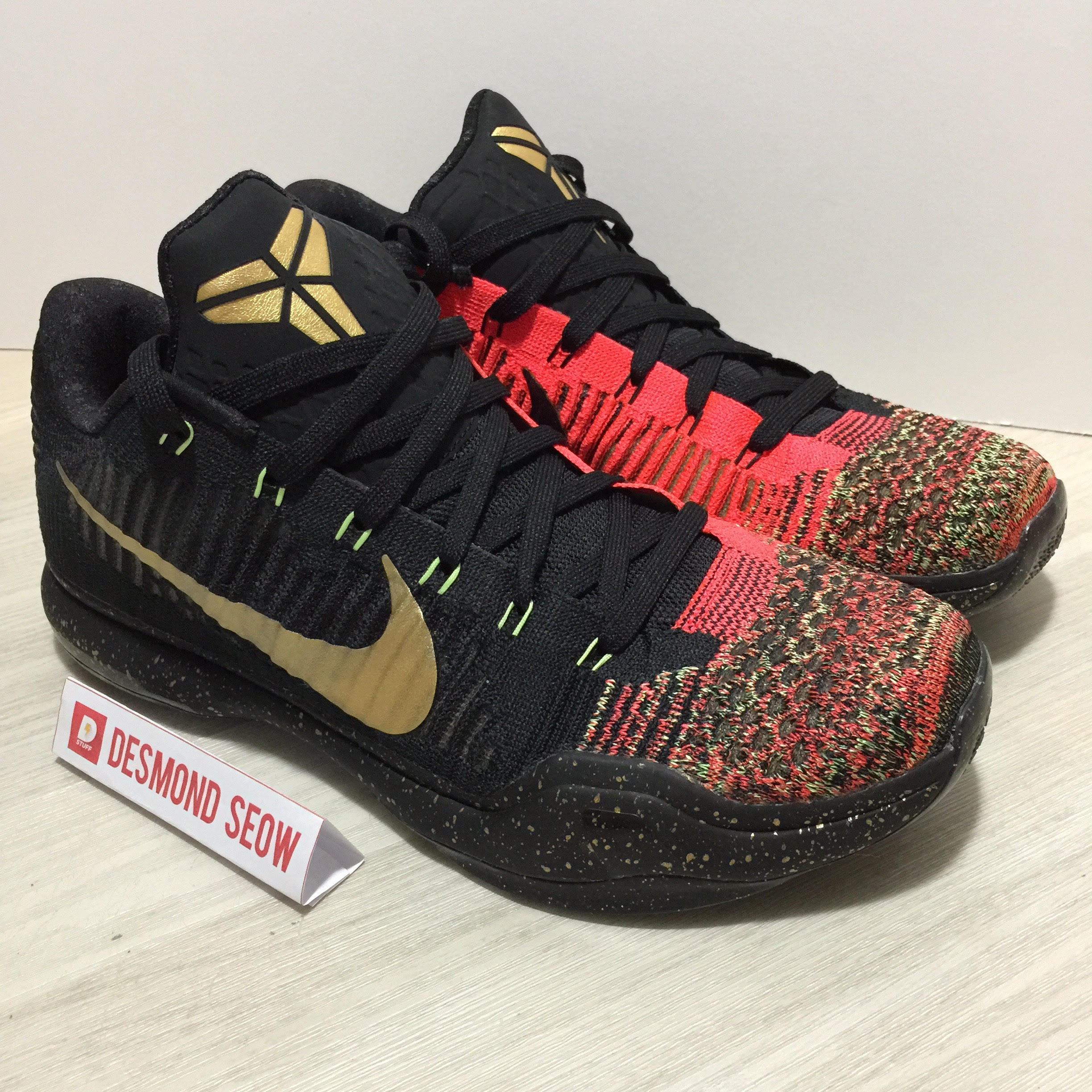 Nike Kobe X Christmas US10, Sports, Sports Apparel on Carousell