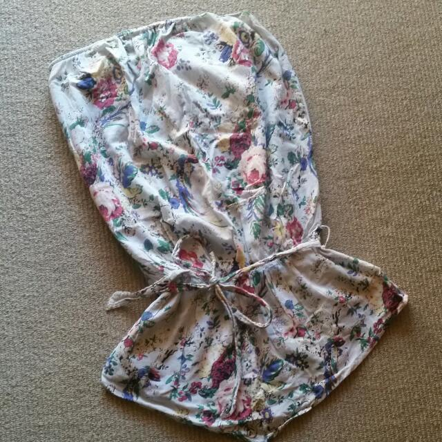 Oneteaspoon Floral Strapless Tunic Size M