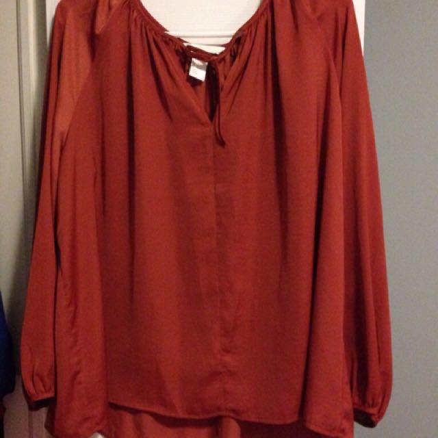 Orange-red Elegant Shirt
