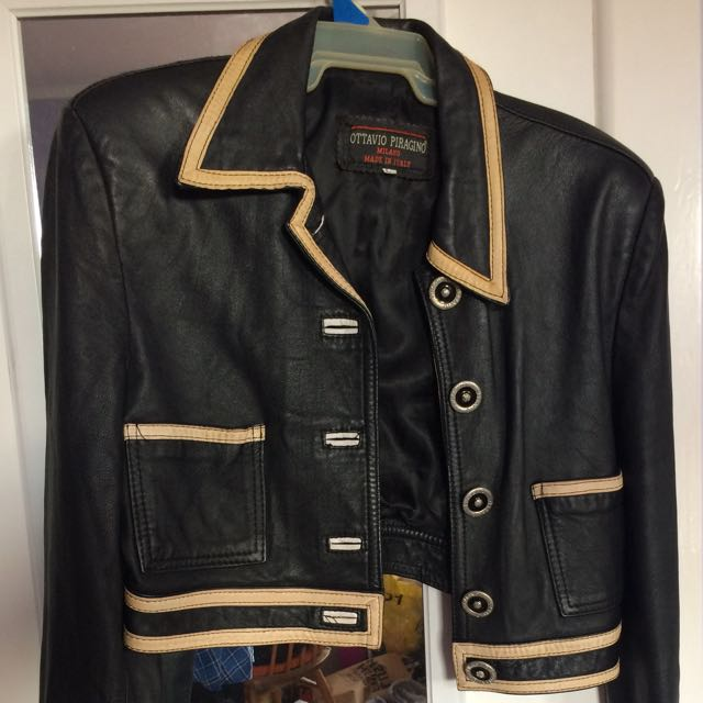 Ottavio Piragino Milano real leather jacket