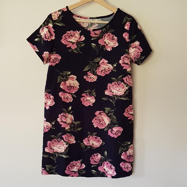Pare Floral Size 10 Shift Dress