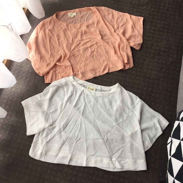 Peach And White Tops