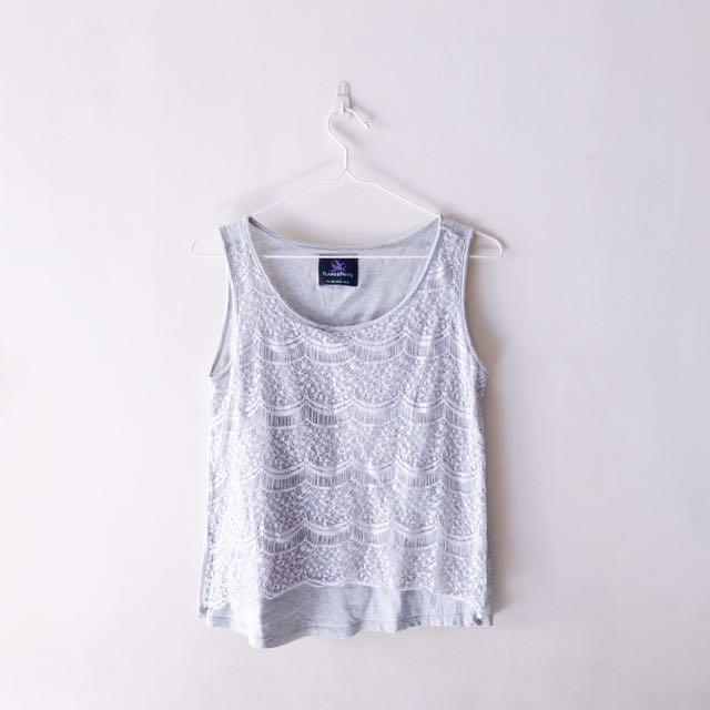 Plains And Prints Lace Top