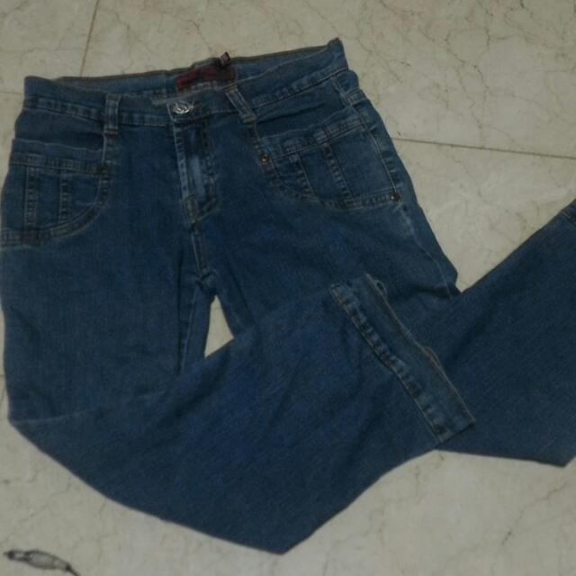 Pre-Loved 3/4 Cropped Denim Pants