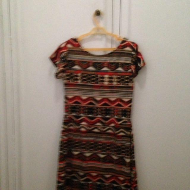 Preloved 'Aztec' Design Top / Short Dress