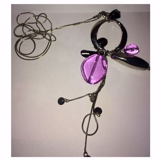 Purple Pendant Necklace (Colette)