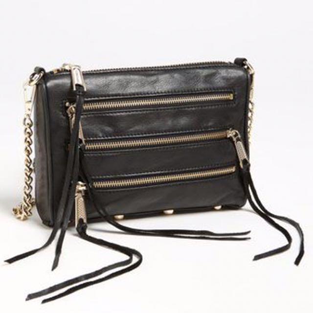 Rebecca Minkoff Triple Zipper Cross body purse (small)