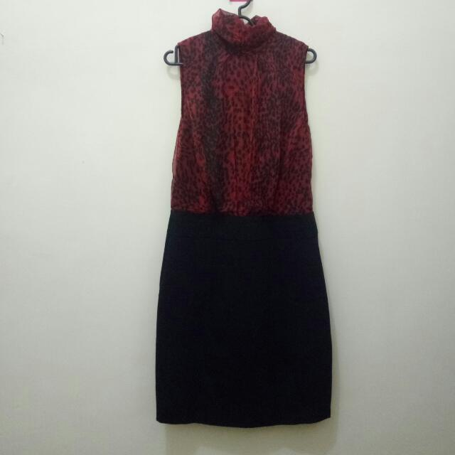 Red-Black Dress