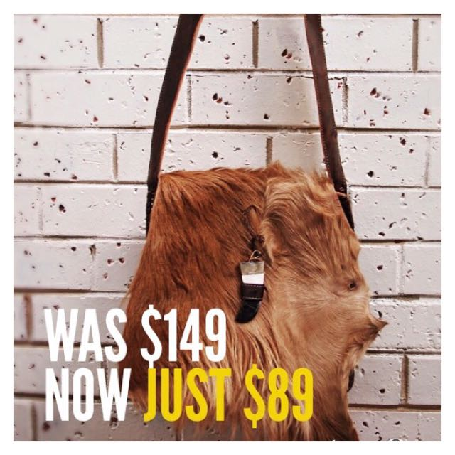 Sale! Moroccan Handmade Fur Handbag With Tusk Closure