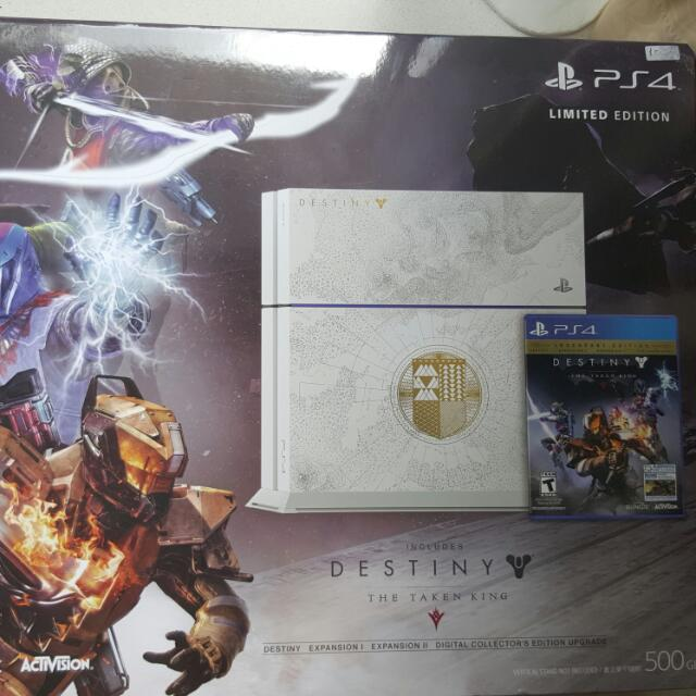 Sale! PS4 Console (Destiny Limited Edition) + 2 Controllers + 4 Games, Hdmi and Nyko Charging Station.