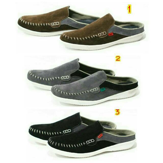 Sepatu sandal sendal kickers bustong pria kulit terbaru branded trend murah  hitam nike adidas vans bata wakai kets 694c9cc3bb