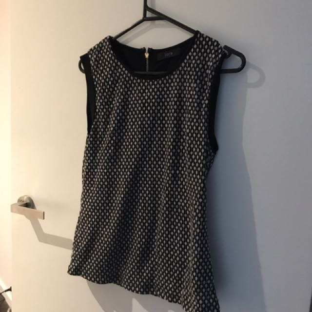 Sleeveless Top With Back Zip Detail