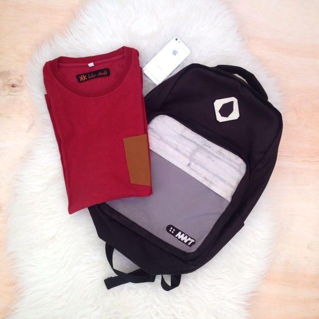 Tas MNT + Kaos Pocket kikostuff