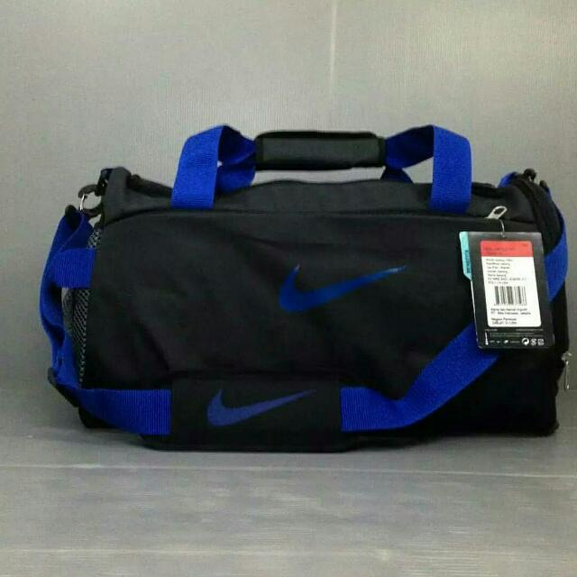 Tas Travel Nike Hitam List Biru