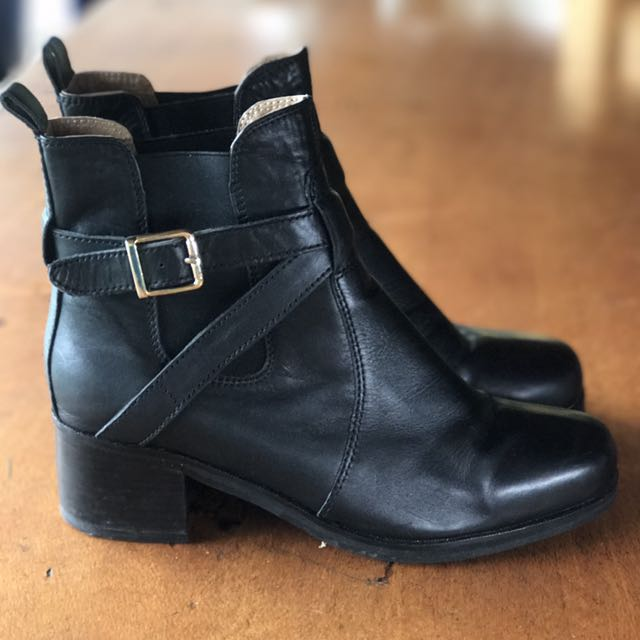 Tony Bianco Black Ankle Boots 9.5