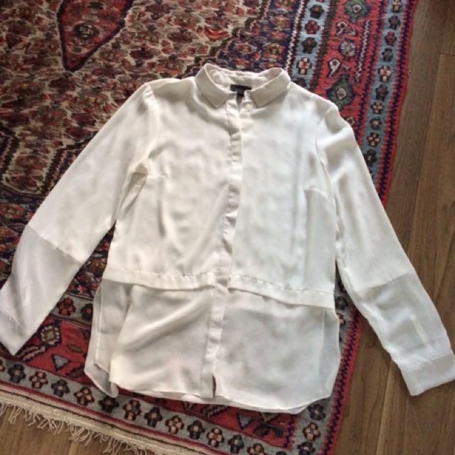 Topshop Button Down White Shirt