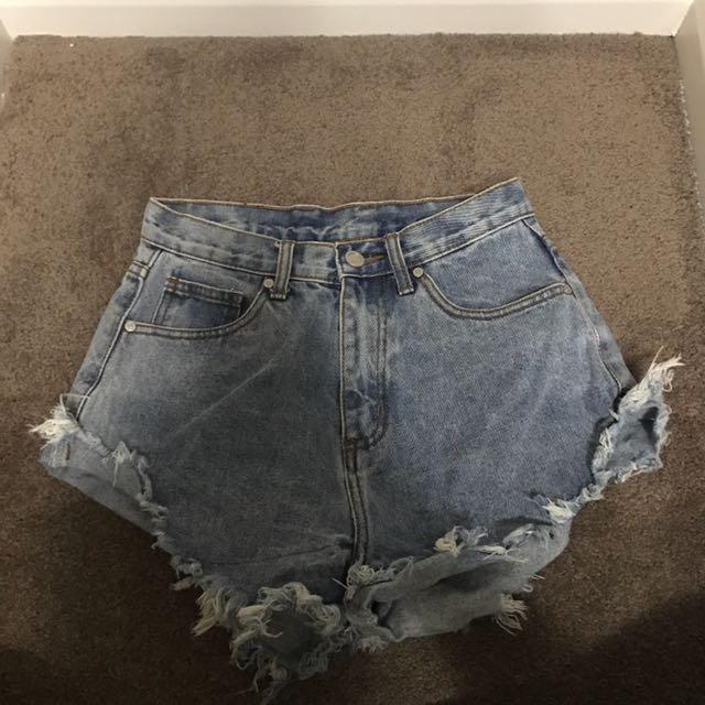 UNIF denim frayed shorts