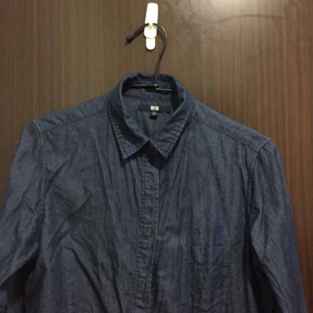 Uniqlo牛仔襯衫