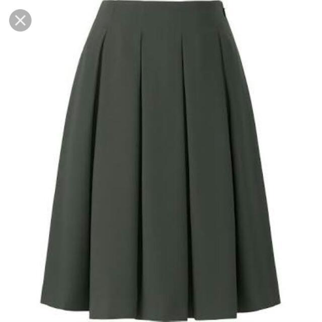 Uniqlo Crepe Tucked Skirt