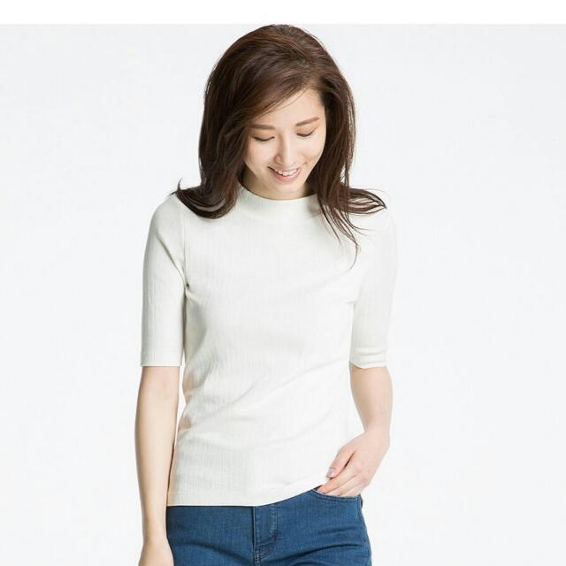 UNIQLO 羅紋中高領T恤