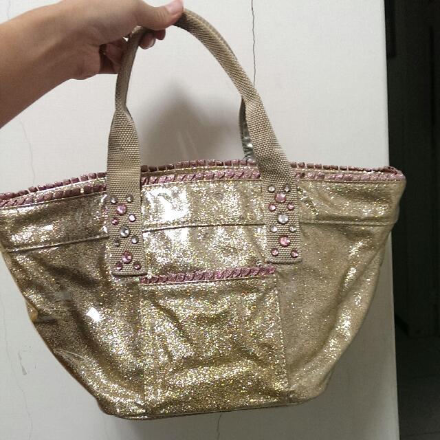 日本 Violet Hanger 金色手提包