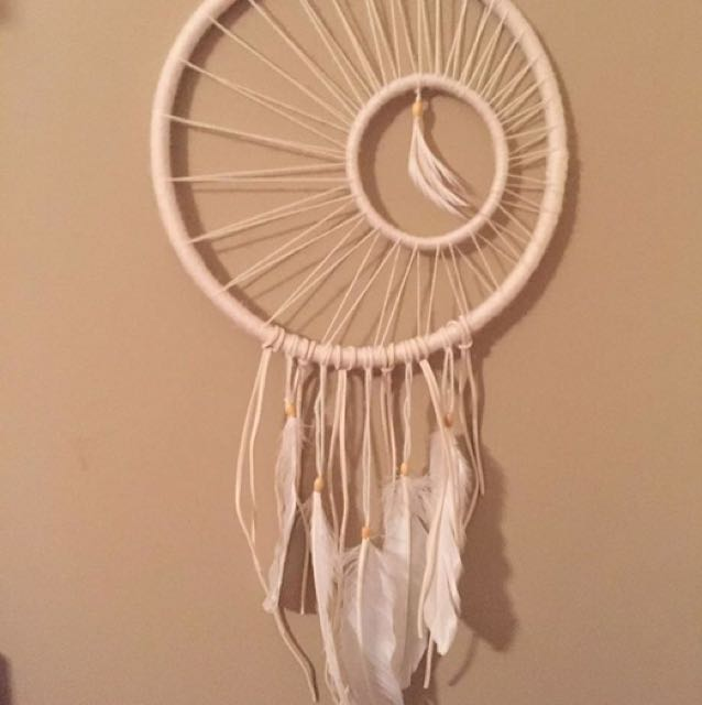 White Hand Made Dream Catcher
