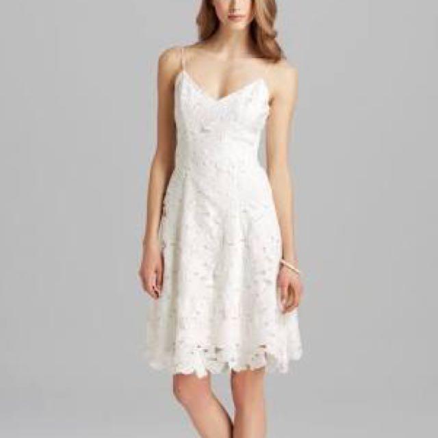 White Lace Strap Dress